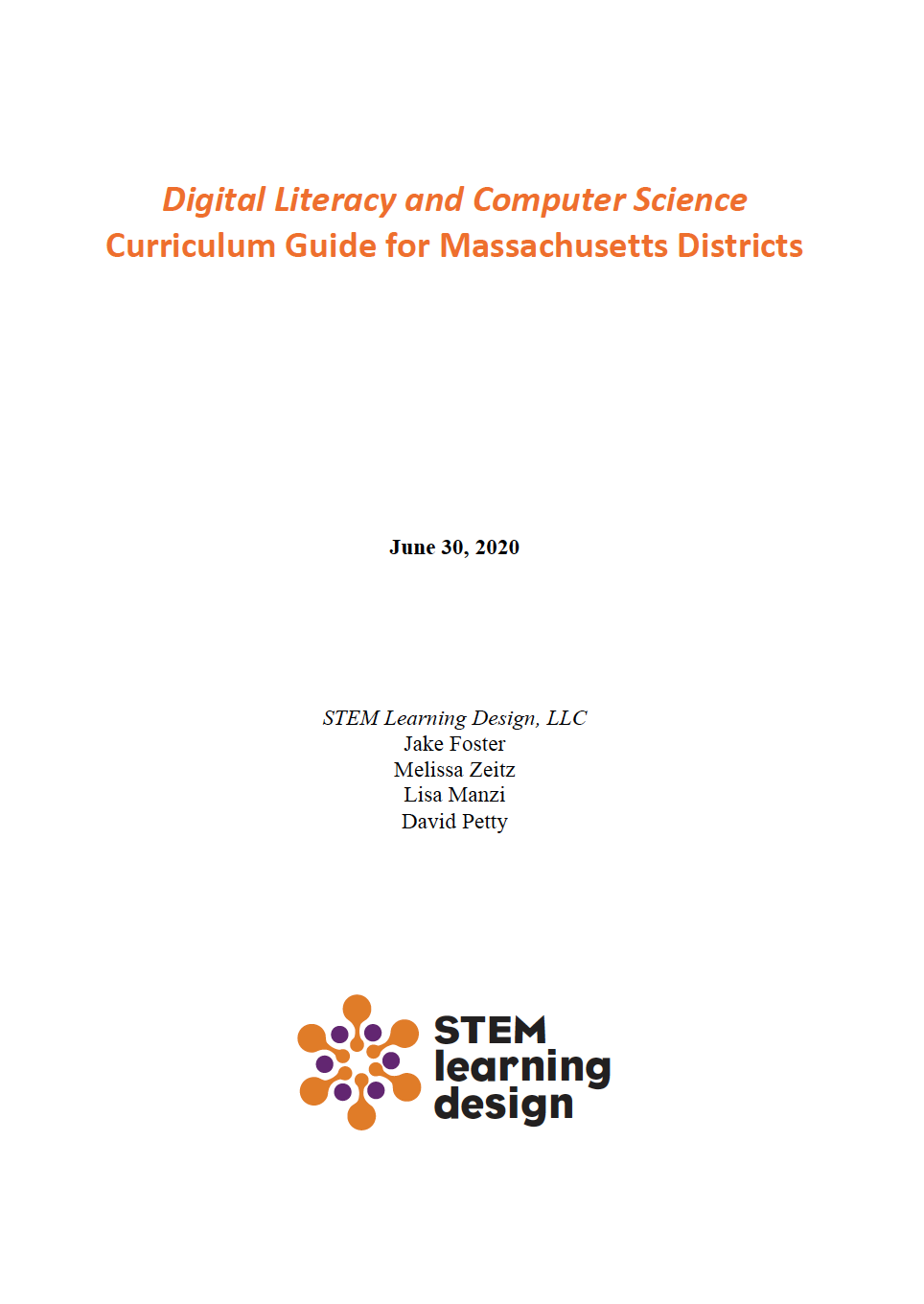 DLCS Curriculum Guide Cover 6-30-20